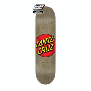 "Santa Cruz Classic Dot 8.38"" Skateboard Deck - Natural"