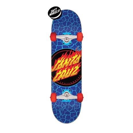 "Santa Cruz Flame Dot 7.5"" Complete Skateboard"