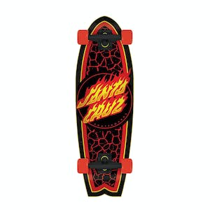 "Santa Cruz Flame Dot Shark 8.8"" Cruiser Skateboard"