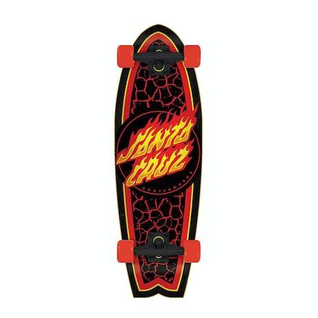 """Santa Cruz Flame Dot Shark 8.8"""" Cruiser Skateboard"""