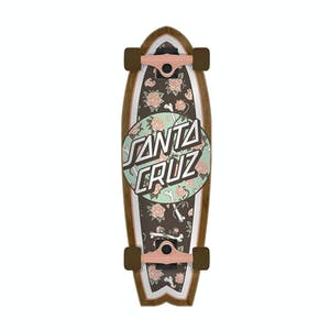 "Santa Cruz Floral Decay Shark 8.8"" Cruiser Skateboard"