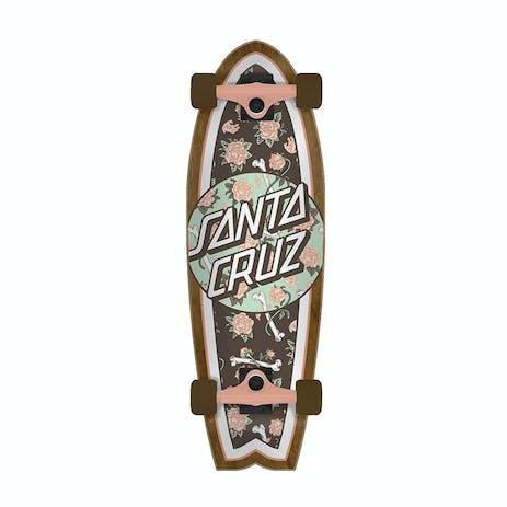 "Santa Cruz Floral Decay Shark 8.8"" Cruiser Skateboard"