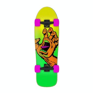 "Santa Cruz Missing Hand 9.7"" Cruiser Skateboard - Fluoro"