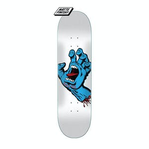 "Santa Cruz Screaming Hand 8.25"" Skateboard Deck - White"