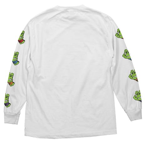 Santa Cruz x TMNT Sewer Dot Long Sleeve T-Shirt - White