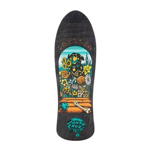 "Santa Cruz Dressen Pup Re-Issue 9.5"" Skateboard Deck - Black"