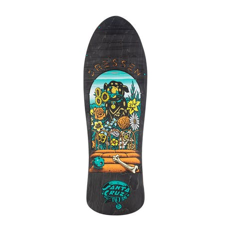 "Santa Cruz Dressen Pup Re-Issue 9.5"" Skateboard Deck - Black"