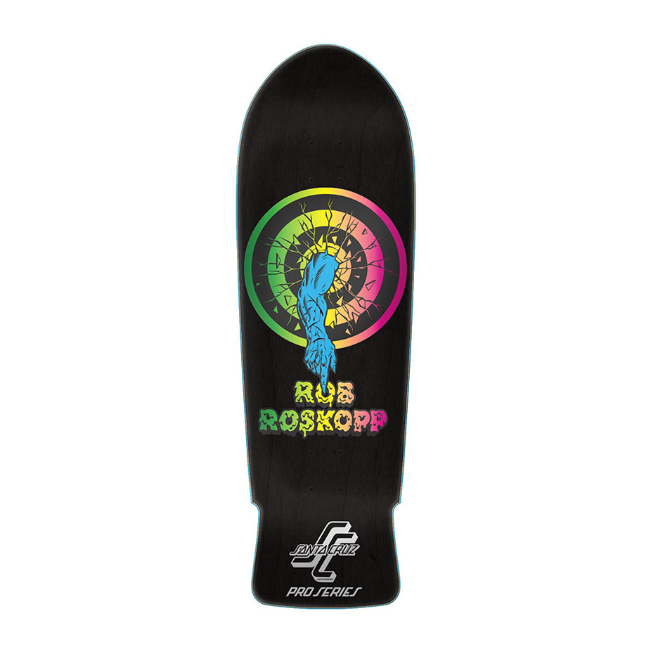 Santa Cruz Rob Roskopp TARGET 1 Skateboard Deck BLACK STAIN