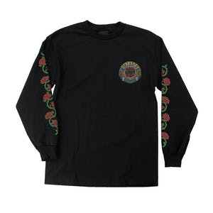 Santa Cruz Dressen Roses Long Sleeve T-Shirt - Black