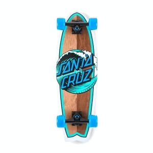 "Santa Cruz Wave Dot Shark 8.8"" Cruiser Skateboard"