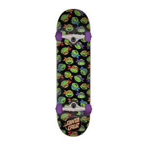 "Santa Cruz x TMNT Allover Turtle 7.25"" Complete Skateboard"