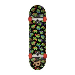 "Santa Cruz x TMNT Allover Turtle 7.5"" Complete Skateboard"