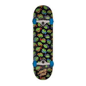 "Santa Cruz x TMNT Allover Turtle 7.75"" Complete Skateboard"