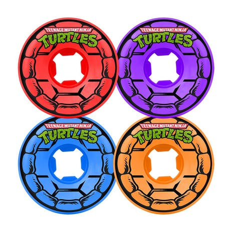 Santa Cruz x TMNT Mini Slime Balls 54mm Skateboard Wheels - Vomit Variety Pack
