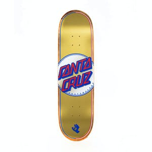 "Santa Cruz Steadfast Dot VX 8.5"" Skateboard Deck - Gold"