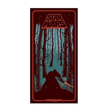 """Santa Cruz x Star Wars Episode VII Kylo Ren 8.26"""" Skateboard Deck"""