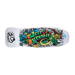 "Santa Cruz Kendall Graffiti Re-Issue 9.69"" Skateboard Deck - White"