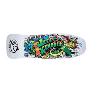 "Santa Cruz Kendall Graffiti Re-Issue 9.69"" Skateboard Deck - White"