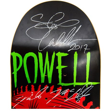 "Powell-Peralta Chingaste 8.0"" Skateboard Deck - Signed by Tony Hawk, Steve Caballero & Mike McGill"