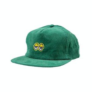 Krooked Eyes Cord Cap - Green/Yellow