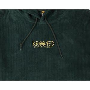 Krooked Eyes Cord Hoodie - Green