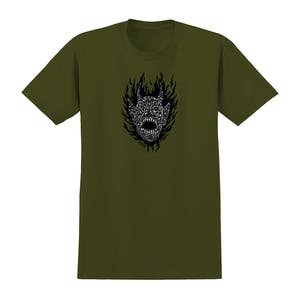 Spitfire Fiend T-Shirt - Green/Black