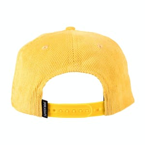 Spitfire Flash Fire Cord Snapback Hat - Yellow