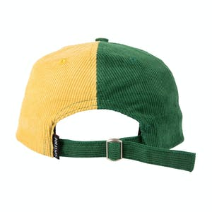 Spitfire Lil Bighead Cord Strapback Hat - Green/Yellow