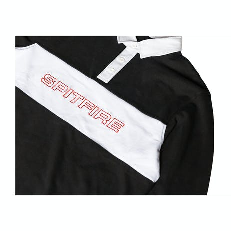Spitfire Long Sleeve Rugby Shirt - Black/White