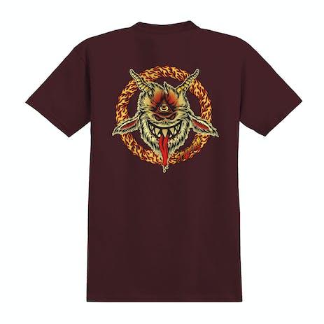 Spitfire Touch of Satan T-Shirt - Burgundy