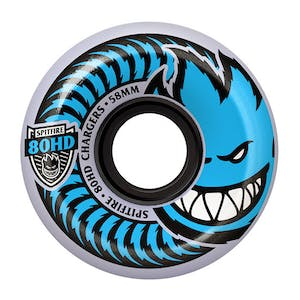 Spitfire Chargers 80HD Conical 54mm Skateboard Wheels - Clear/Blue