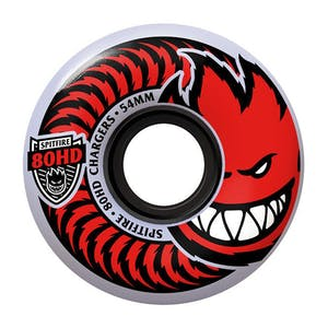 Spitfire Chargers 80HD Classic Skateboard Wheels - Clear/Red