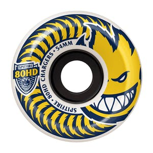 Spitfire Chargers 80HD Conical Skateboard Wheels - White/Yellow