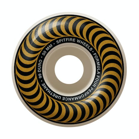 Spitfire Classic Swirl Formula Four 99D 50mm Skateboard Wheels - Gold