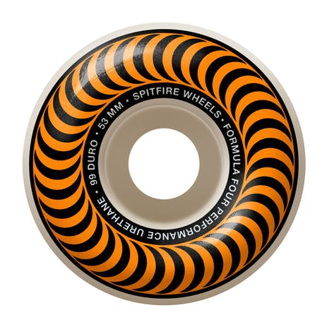 Spitfire Classic Swirl Formula Four 99D 53mm Skateboard Wheels - Orange