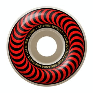 Spitfire Classic Swirl Formula Four 101D 60mm Skateboard Wheels - Red