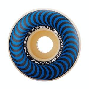 Spitfire Classic Swirl Formula Four 97D 56mm Skateboard Wheels - Blue