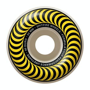 Spitfire Classic Swirl Formula Four 99D 55mm Skateboard Wheels - Yellow
