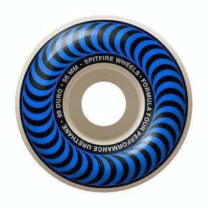 Spitfire Classic Swirl Formula Four 99D 56mm Skateboard Wheels - Blue