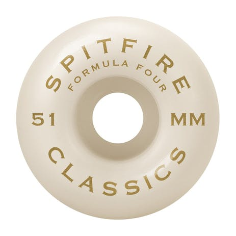 Spitfire Classic Swirl Formula Four 101D 51mm Skateboard Wheels - Red