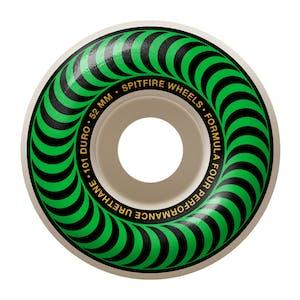 Spitfire Classic Swirl Formula Four 101D 52mm Skateboard Wheels - Green