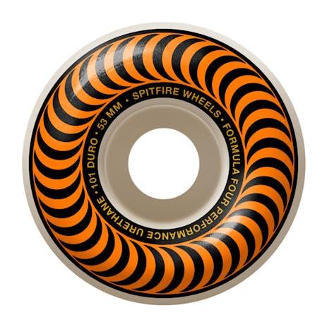 Spitfire Classic Swirl Formula Four 101D 53mm Skateboard Wheels - Orange
