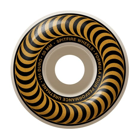 Spitfire Classic Swirl Formula Four 101D 50mm Skateboard Wheels - Bronze