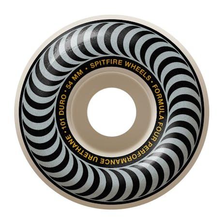 Spitfire Classic Swirl Formula Four 101D 54mm Skateboard Wheels - Metallic