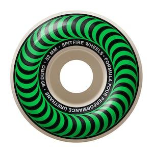 Spitfire Classic Swirl Formula Four 99D 52mm Skateboard Wheels - Green