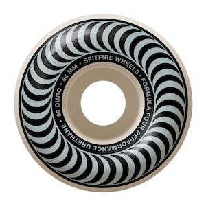 Spitfire Classic Swirl Formula Four 99D 54mm Skateboard Wheels - Metallic