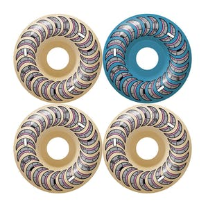 Spitfire Lance Classic Formula Four 99D 56mm Skateboard Wheels - Pastel Blue/Natural