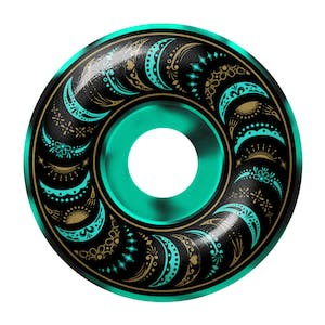 Spitfire Mariano Classic Swirl 53mm Skateboard Wheels - Turquoise / Black