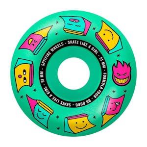 Spitfire x Skate Like A Girl Formula Four 99D 51mm Skateboard Wheels - Ice Mint
