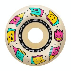 Spitfire x Skate Like A Girl Formula Four 99D 55mm Skateboard Wheels - Natural
